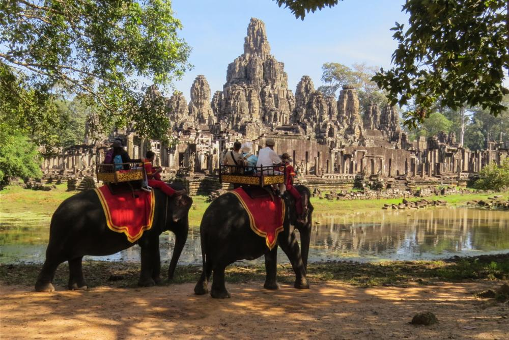 Les balades à dos d'éléphants interdites à Angkor