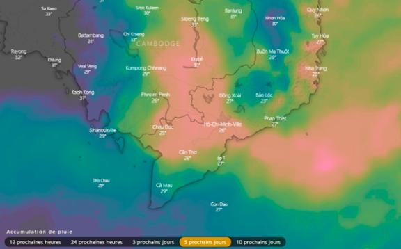Chute des températures à cause du typhon Usagi