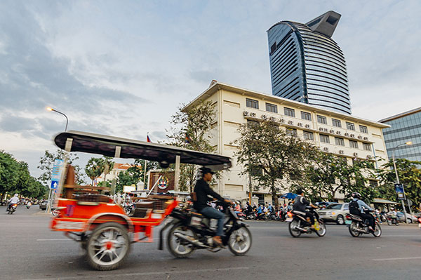 Tuk tuk à Phnom Penh