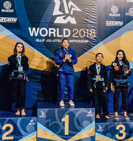 Jessa atteint la plus haute marche du podium aux championnats du monde en juin dernier